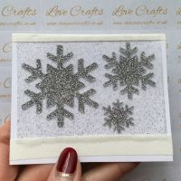 Silver Glitter Snowflake Vinyl - design 2 - set of 3