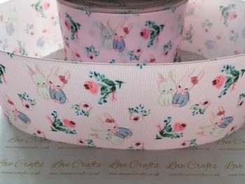 Bunny Floral Grosgrain Ribbon