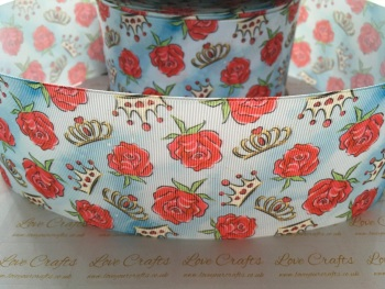 Rose & Crown Grosgrain Ribbon