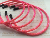 Bright Pink Glitter Headband