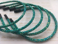 Dark Green Glitter Headband