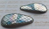Pair of Large Mermaid Scale Snap Clips - AB