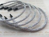 White Glitter Headband