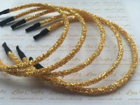Yellow Gold Glitter Headband