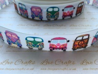 "1"" Campervan Grosgrain Ribbon"