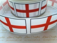 Flag - England Grosgrain Ribbon