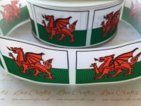 Flag - Wales Grosgrain Ribbon