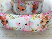Floral Animal Cuties Grosgrain Ribbon