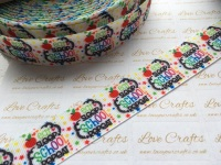 "1"" Eat, Sleep, School, Repeat Grosgrain Ribbon"