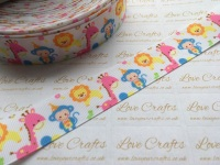 "1"" Jungle Cuties Grosgrain Ribbon"