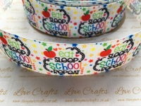 "1.5"" Eat, Sleep, School, Repeat Grosgrain Ribbon"