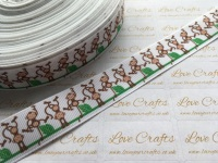 "7/8"" Monkeys Grosgrain Ribbon"