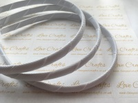 #029 White Grosgrain Ribbon Covered Headband