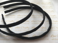 #030 Black Grosgrain Ribbon Covered Headband