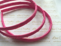 #156 Hot Pink Grosgrain Ribbon Covered Headband