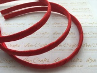 #235 Poppy Red Grosgrain Ribbon Covered Headband
