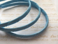 #308 Blue Topaz Grosgrain Ribbon Covered Headband