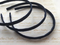 #370 Navy Grosgrain Ribbon Covered Headband