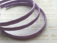 #430 Light Orchid Grosgrain Ribbon Covered Headband