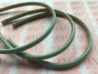 Aqua Glitter Headband with Gold Trim Lining