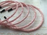 Baby Pink Glitter Headband