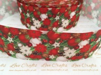 Christmas Bauble Floral Grosgrain Ribbon