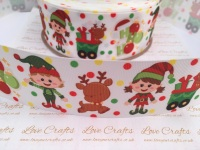 Christmas Elves Grosgrain Ribbon