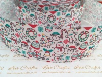 Christmas Mix Grosgrain Ribbon