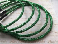 Emerald Glitter Headband
