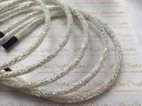 Ivory White Glitter Headband