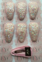 Pair of Glitter Snap Clips - Light Pink