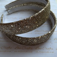 Gold Glitter Wide Headband