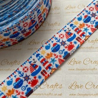 "1"" At The Sea Grosgrain Ribbon"