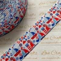 "1"" Boat Party Grosgrain Ribbon"