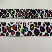 Colourful Leopard Grosgrain Ribbon