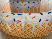 Vanilla Ice Cream Cone Grosgrain Ribbon