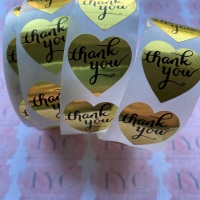 Roll of Thank You Stickers -  design 1