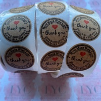 Roll of Thank You Stickers -  design 3