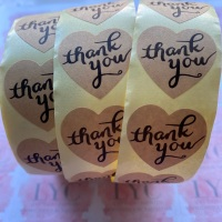 Roll of Thank You Stickers -  design 4