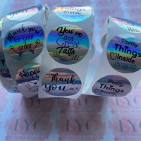 Roll of Thank You Stickers -  design 5