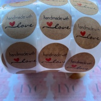 Roll of Thank You Stickers -  design 6