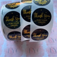 Roll of Thank You Stickers -  design 8