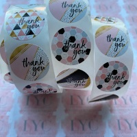 Roll of Thank You Stickers -  design 9