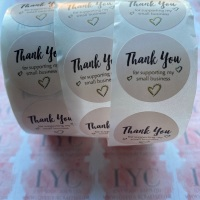 Roll of Thank You Stickers -  design 10