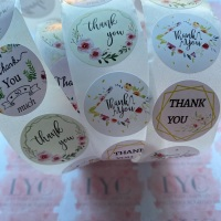 Roll of Thank You Stickers -  design 11