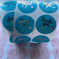 Roll of Thank You Stickers -  design 12