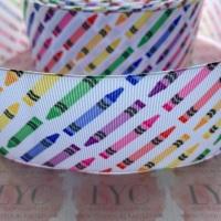 Crayons Grosgrain Ribbon