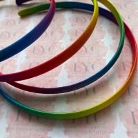 10mm Rainbow Satin Headband