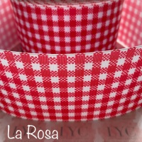La Rosa New Gingham Check Grosgrain Ribbon