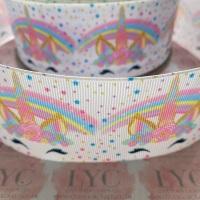 Pastel Dreamy Unicorn Grosgrain Ribbon